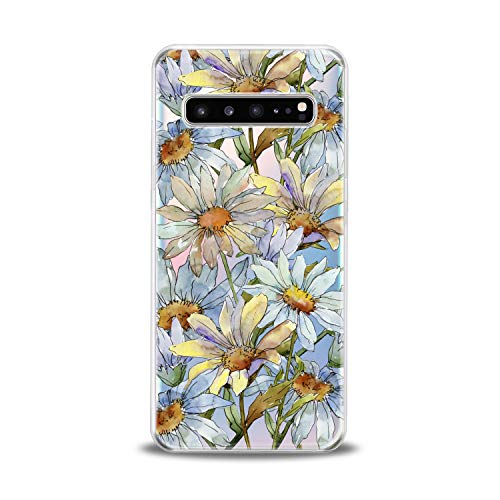 - Lex Altern TPU Case for Samsung Galaxy s10 5G Plus 10e Note 9 s9 s8 s7 Watercolor Daisies Bloom Flower Clear Cover Floral Print Protective Pattern Girl Design Women Transparent Silicone Cute New Art