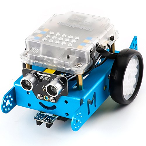 Makeblock mBot Kit – STEM Education – Arduino – Scratch 2.0 – Programmable Robot Kit for Kids to Learn Coding, Robotics and Electronics – Blue(Bluetooth Version)