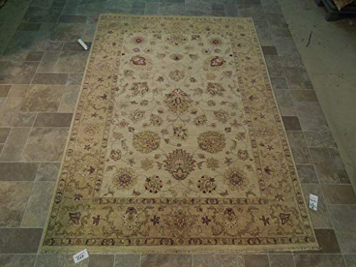 Floral Traditional 6' x 8' Vegetable Dyed Rug Hand Woven Chobi Carpet ()