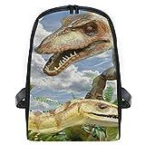 MALPLENA Small Kids Knapsack Animals Compsognathus Dinosaur Nursery School Kids Backpack
