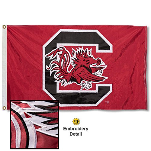 South Carolina Gamecocks Embroidered and Stitched Nylon Flag