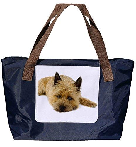 Shopper / Borsetta / Borsetta / Borsetta / Borsetta In Nylon Blu Navy - Taglia 43x33cm - Motivo: Cane Cairn Terrier Portrait - 01