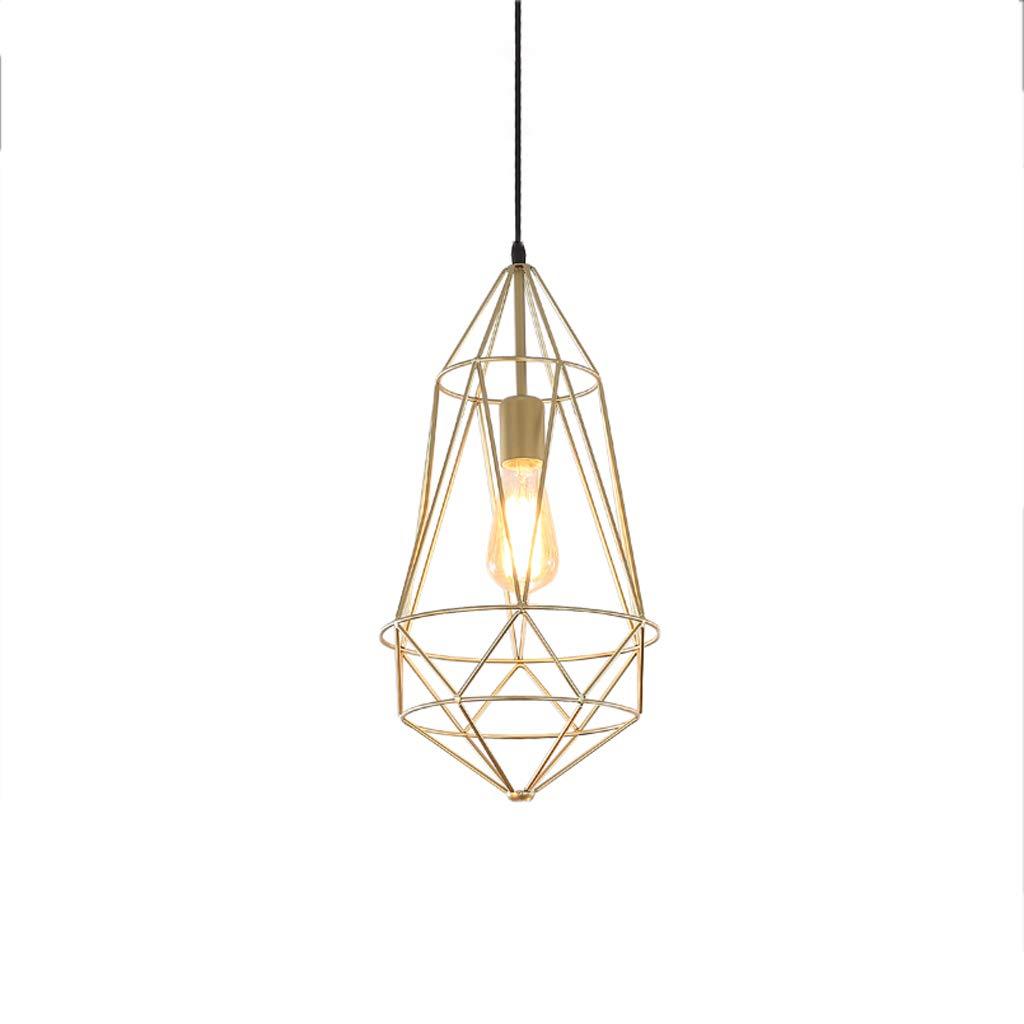 Nordic Industrial Style Wrought Iron Single Head Chandelier, Bar Table Lamp Shop Lamp Chandelier Retro Decorative Chandelier (D)
