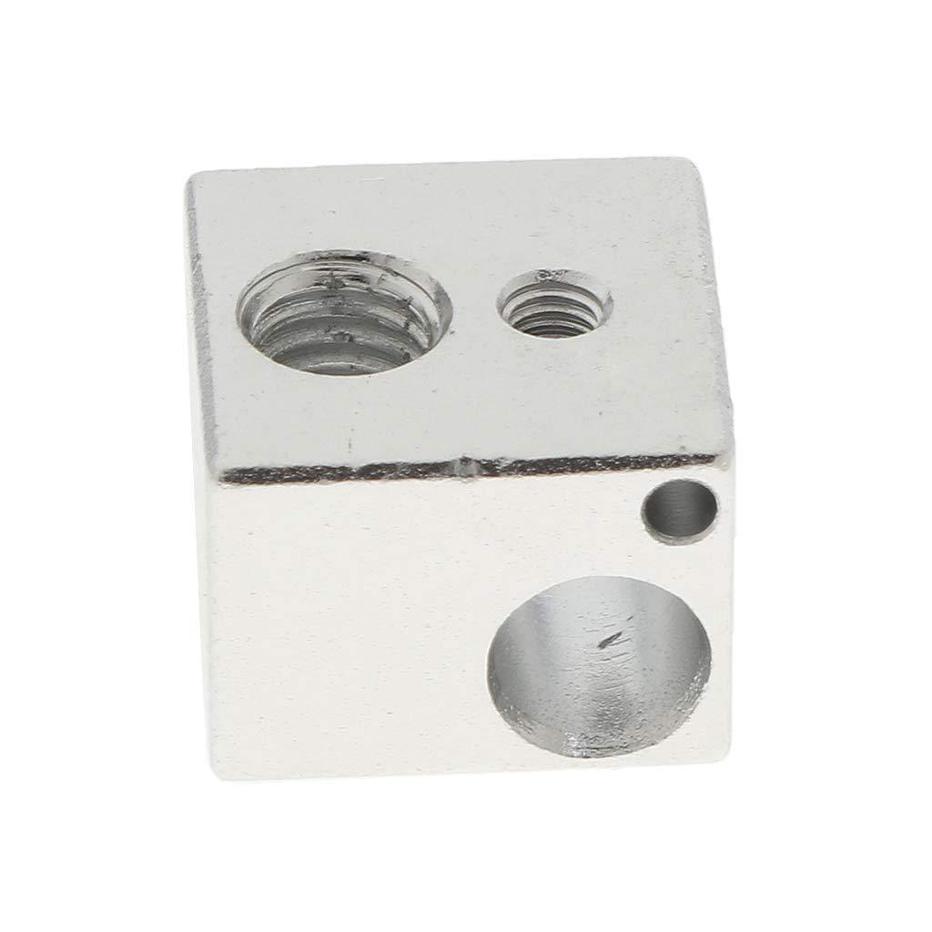 D DOLITY Aluminum Heater Block for 3D Printer Extruder Hotend Mk7 MK8 M6 Heat Block - RepRap Bowden Makerbot 15x15x11mm (Pack of 1Pcs)
