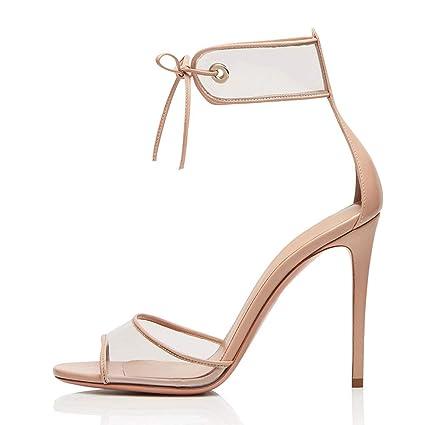 bd65cc1a1261f Amazon.com: FCXBQ Lace-Up Sandals, Stiletto Pumps Open Toe Sandals ...