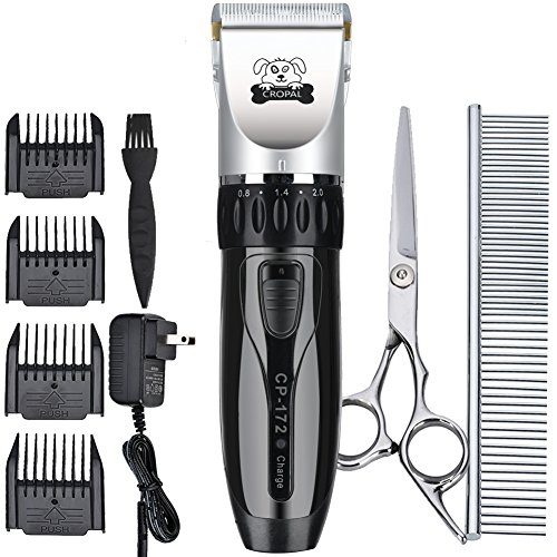 Cropal-Pet-Grooming-Clippers-Quite-Rechargeable-Dog-and-Cat-Grooming-Clippers-Cordless-for-Small-Medium-Large-Dogs-Cats-and-Other-House-Pets-silverblack