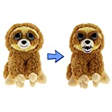 """William Mark- Feisty Pets: Lightning Bolt Lenny- Adorable 8.5"""" Plush Stuffed Sloth That Turns Feisty With a Squeeze!"""