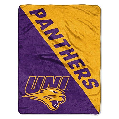 Northern Iowa Football Rug - Northern Iowa OFFICIAL Collegiate, Grunge 46x 60 Micro Raschel Throw