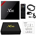 Shoeki [2018 LATEST VERSION] X96 4K Android 7.1 TV BOX 1GB 8GB AMLOGIC S905W QUAD CORE SUPPORT 2.4G WIFI H.265 X 96 MEDIA PLAYER