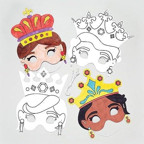 Maschere Da Principessa Da Colorare Per Bambini Da Creare E