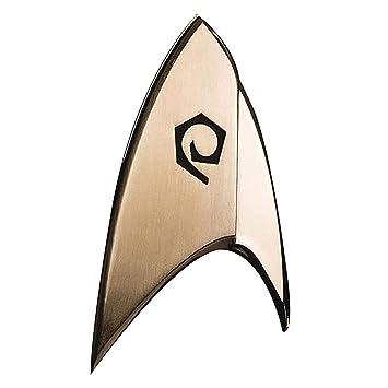 Filmwelt Shop QSTR129 Quantum Mechanix Star Trek Insignia de Operaciones de Descubrimiento