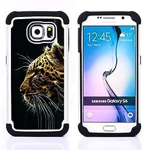 - Cheetah Big Cat/ H??brido 3in1 Deluxe Impreso duro Soft Alto Impacto caja de la armadura Defender - SHIMIN CAO - For Samsung Galaxy S6 G9200
