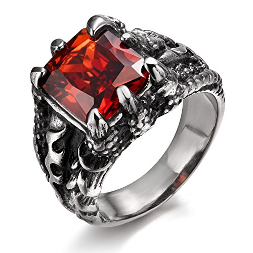 stainless steel rings gothic - 6