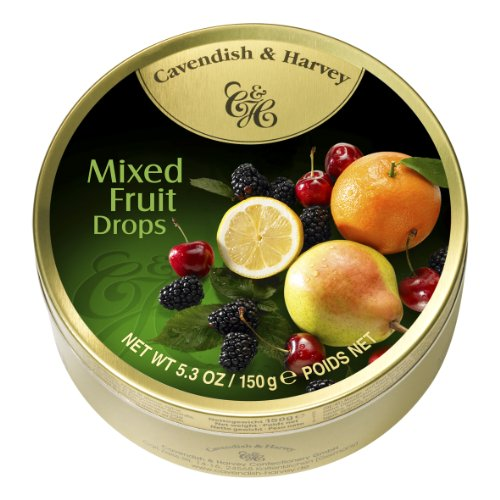 Cavendish & Harvey Mixed Candy Tin, Fruit, 5.3 Ounce (Pack of - Glasses Cavendish