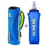 AONIJIE Hand-held Sport Bottle Bag Hydration Pack Water Bottle Holder Handbag Soft Water Bottle Optional