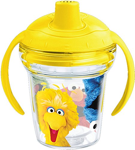 Tervis 1242375 Sesame Street Insulated Tumbler with Wrap and Bumblebee Yellow Lid 6 oz Sippy Cup - Tritan Clear ()