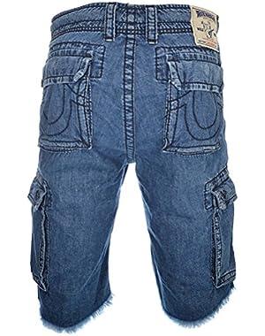 Mens Short Cargo Cut Off Big T Shorts, Light Stone Size 34, $211