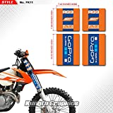Kungfu Graphics Upper Mid Fork Tube Decal Kit (Pack of 4), Orange