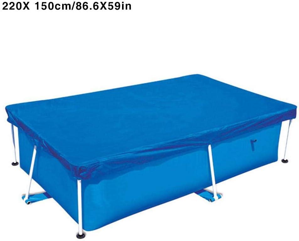 Cuckoo-X - Funda de tela impermeable para alberca (resistente a los rayos UV, rectangular, con cuerda resistente al desgaste), -, 220*150CM