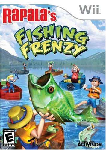 Rapala's Fishing Frenzy with Fishing Pole - Nintendo Wii (Rapala Trophies)