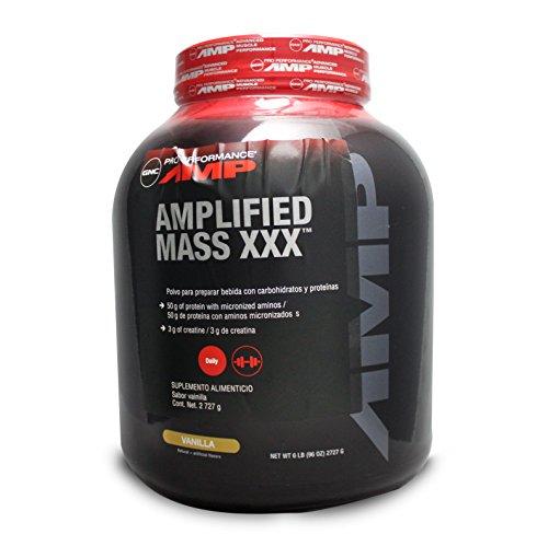 GNC Pro Performance AMP Amplified Mass XXX Weight Gainer, Vanilla, 6 Pound...