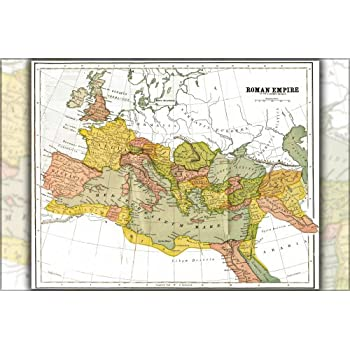 Amazoncom Roman Empire Expansion Map BC To AD X - Rome empire map