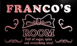 pe1837-r Franco's Girl Kids Room Ribbon Hang Out Neon Light Sign