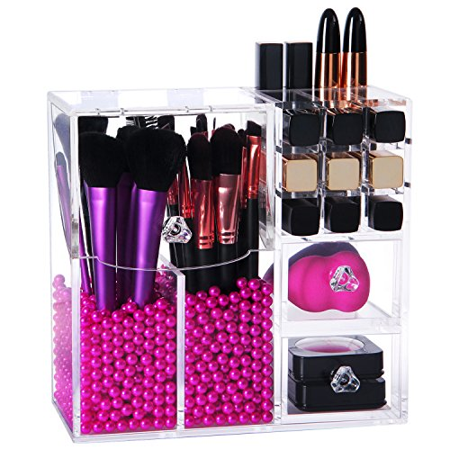 Lifewit Brush Holder Lipstick Case Drawer Dustproof Box