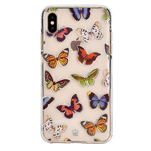 Cute iPhone Xs Max Case Butterfly Clear with Design for Girls Women - Protective Cover [Drop Test Certified]