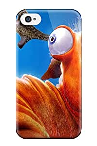 Iphone 4/4s Hard Back With Bumper Silicone Gel Tpu Case Cover Humor Cartoon Abstract Humor
