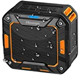 Portable Bluetooth Wireless Speaker for Shower or Outdoor By Boomph. Water Resistant & Shockproof : Rechargeable, Enhanced 10 Hr Battery, Pairs All Bluetooth Devices (Orange)