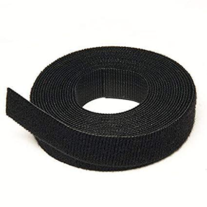 18b21bf90190 VELCRO® Brand Cable Manager Tape Back to Back Hook & Loop Reusable Tie  Rolls 10mm x 25M Black: Amazon.co.uk: Kitchen & Home