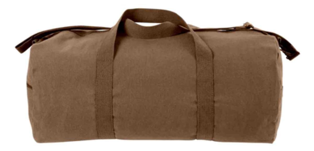 Rothco Canvas Shoulder Bag, Earth Brown, 24''