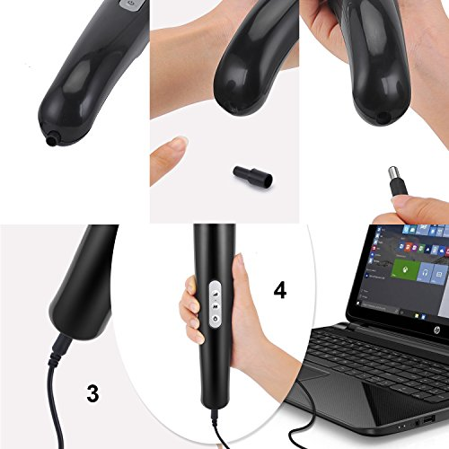 Personal Magic Cordless Wand Massager with 5 Speeds 10 Vibrating Massage for Body-Back Neck Shoulder Feet by YINGE (Image #4)