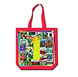 The Beatles Tote Bag Ones Album Cover Logo Official Red Zip Top 38Cm X 38Cm