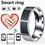 NFC Smart Finger Digital Ring Wear Connect Android Phone Equipment Rings Fashion (Transparent,6)