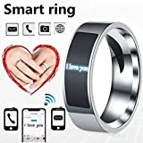 NFC Smart Finger Digital Ring Wear Connect Android Phone Equipment Rings Fashion (Black,12)