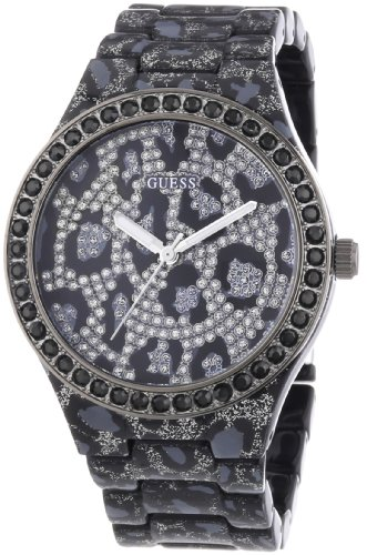 Guess Seductive Leopard Print Resin Ladies Watch