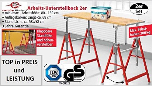 Kraft Werkzeuge Arbeits-Unterstellbock 2er Set