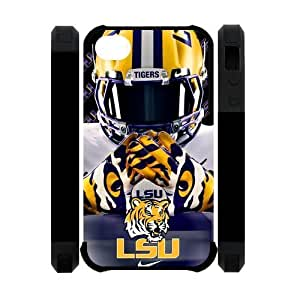 Purple Protective NCAA Lsu Tigers Apple Iphone 4S/4 Case Cover Dual Protective Polymer Cases University Football Nike just do it logo Helmet