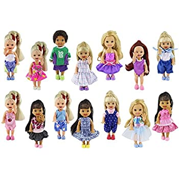 dacb624146e ZITA ELEMENT Lot 6 PCS Fashion Clothes Outfit for Girl s Sister Kelly Doll