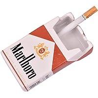 UMHISHOP Marlboro Ceramic Cigarette Ashtray for Home, Car or Office (Marlboro Red) (4x2.4x1.6-inch)