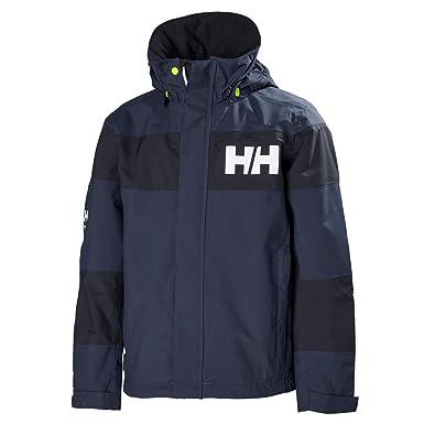 f8997c72 Helly Hansen Kids Salt Port Waterproof Quick Dry Lined Rain Jacket, Evening  Blue, 8