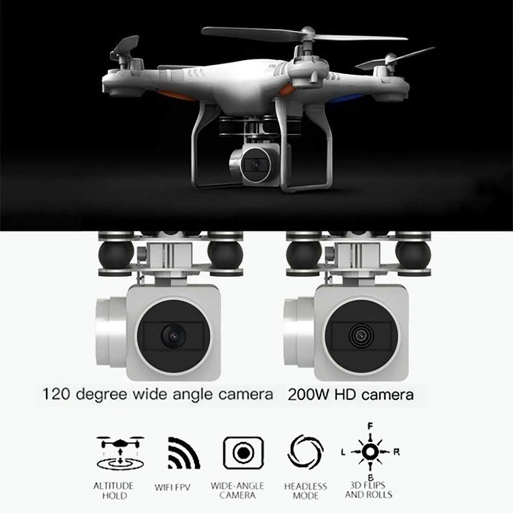Aland-Wide-Angle Camera High Definition Aerial Phone Control Aircraft Quadcopter Toy - Black 30w by Aland (Image #5)