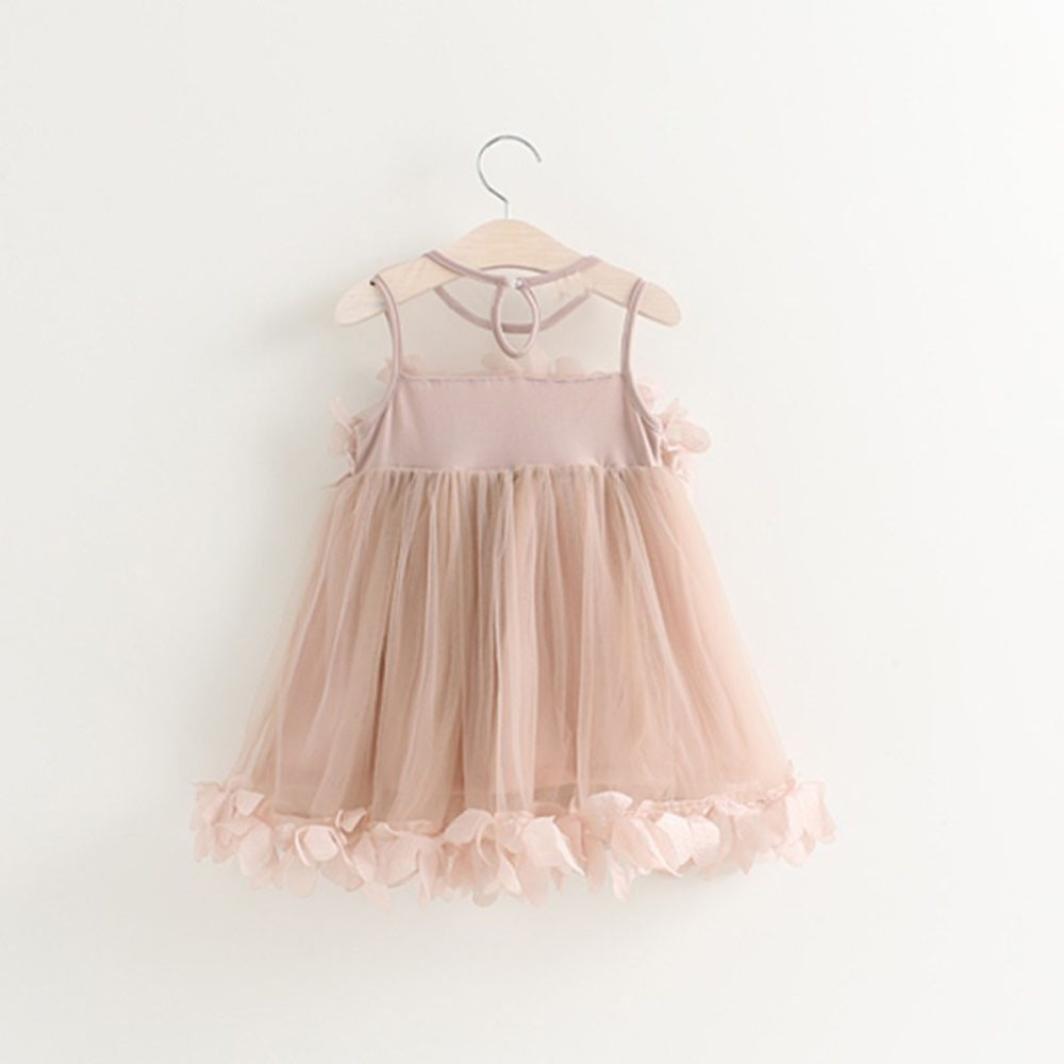 Ropa de niña, vestido de princesa con estampado sin mangas, moda tierna para princesitas de la marca Beikoard. PK 90: Amazon.es: Ropa y accesorios