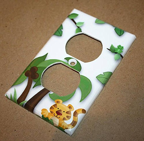 Jungle Safari Kids Nursery Bedroom Single Light Switch Cover LS0082 (Single Outlet)