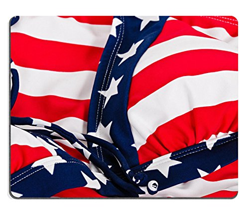 Luxlady Mousepad Patriotic patterns and colors in swimwear bikini IMAGE 20077313