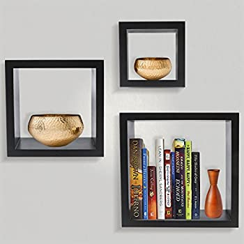 Amazon.com: Sorbus Floating Shelves— Square Shaped Hanging Wall ...
