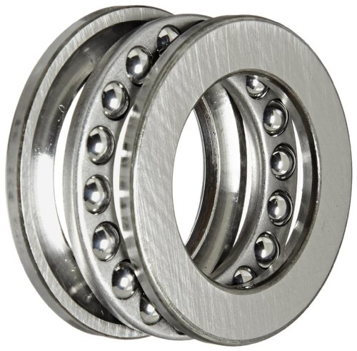Thrust 1 Washer (SKF 51106 Single Direction Thrust Bearing, 3 Piece, Grooved Race, 90° Contact Angle, ABEC 1 Precision, Open, Steel Cage, 30mm Bore, 47mm OD, 11mm Width, 7530lbf Static Load Capacity, 3780lbf Dynamic Load Capacity)