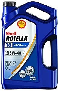 Shell Rotella T6 Full Synthetic Heavy Duty Engine Oil 5w